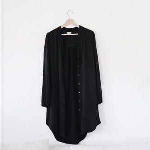 Long black dress shirt / dress